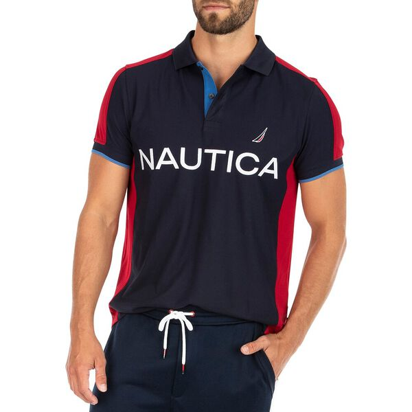 Sustainably Crafted Ahead Of Yourself Polo, Navy, hi-res