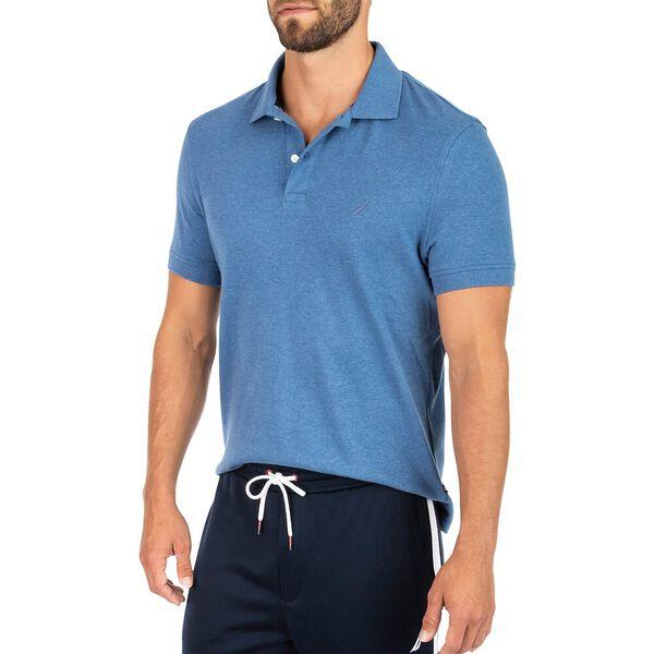 Classic Fit Premium Cotton Interlock Polo, Imperial Blue Heather, hi-res
