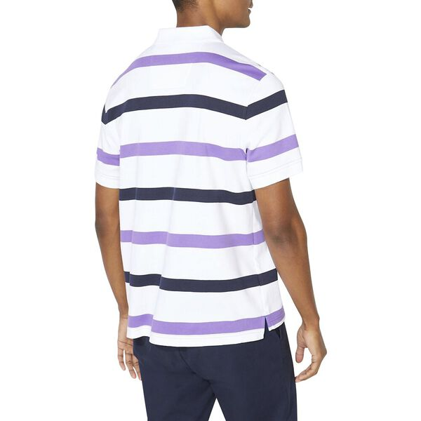 Classic Fit Premium Cotton Stripe Polo, Ocean Violet, hi-res