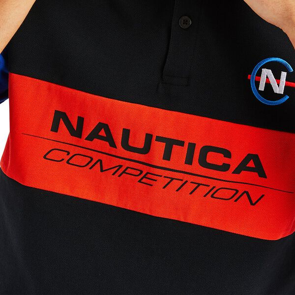 Nautica Competition Laker Polo, True Black, hi-res