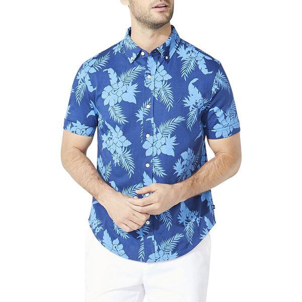 Classic Fit All Over Print Harbour Short Sleeve Shirt, Estateblue, hi-res