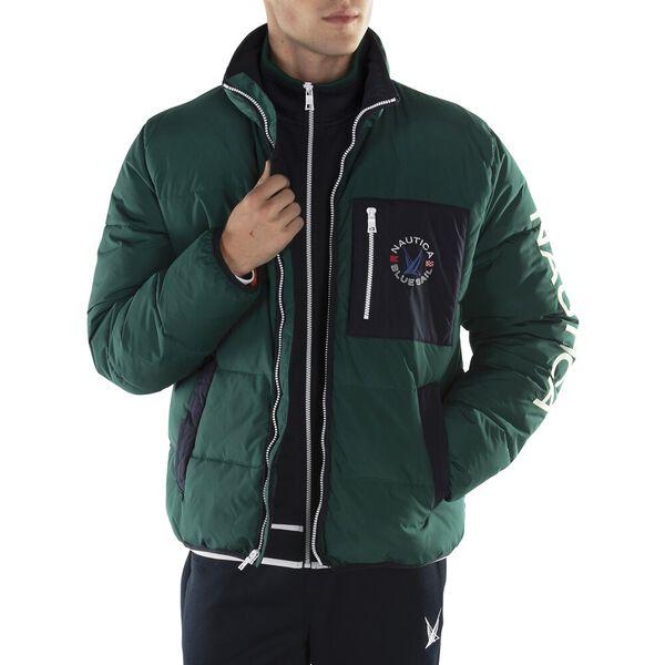 Tempasphere Logo Puffer Jacket, Deep Spruce, hi-res