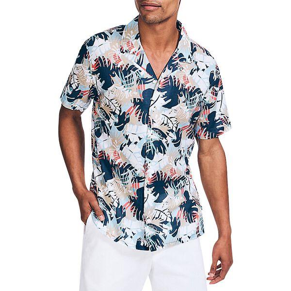 Palm Print Linen Shirt