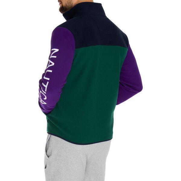 Quarter Zip Nautex Retro Pullover Sweater, Deep Spruce, hi-res