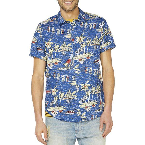 Classic Fit Sail By The Tropics Short Sleeve Linen Shirt