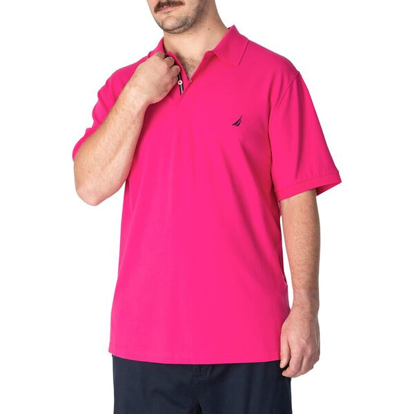 Big & Tall Short Sleeve Deck Polo, Leis Pink, hi-res