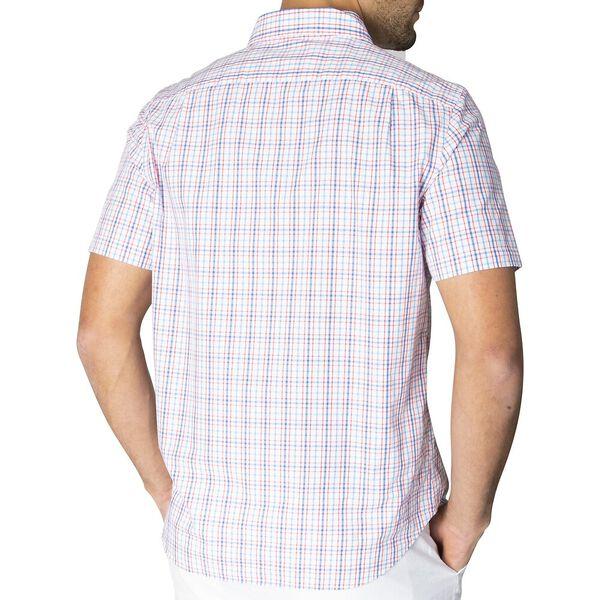 Short Sleeve Checked Shirt, Bright White, hi-res