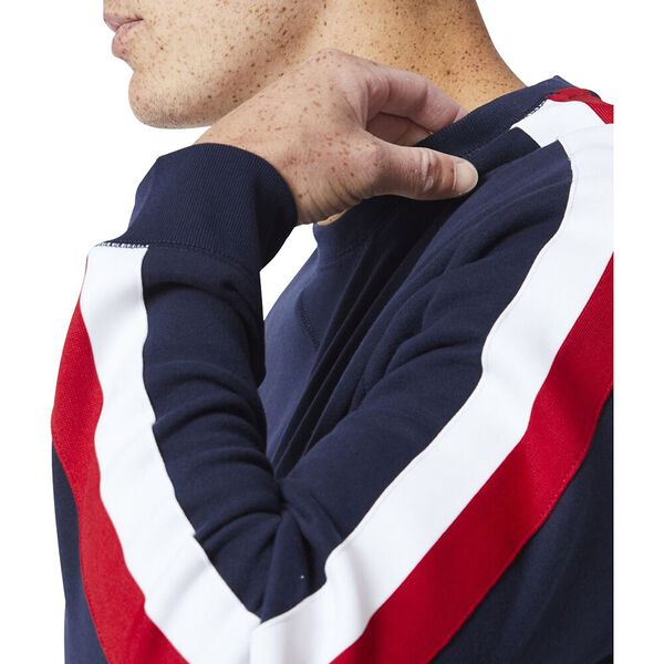Vintage Fit Nautica Logo Crew Neck Sweater, Navy, hi-res