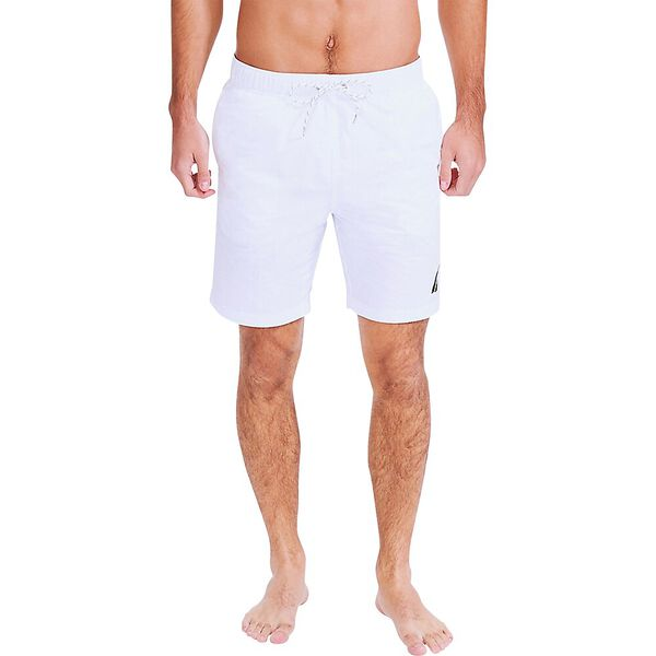"""8"""" J Class Signature Swim Trunk, Bright White, hi-res"""