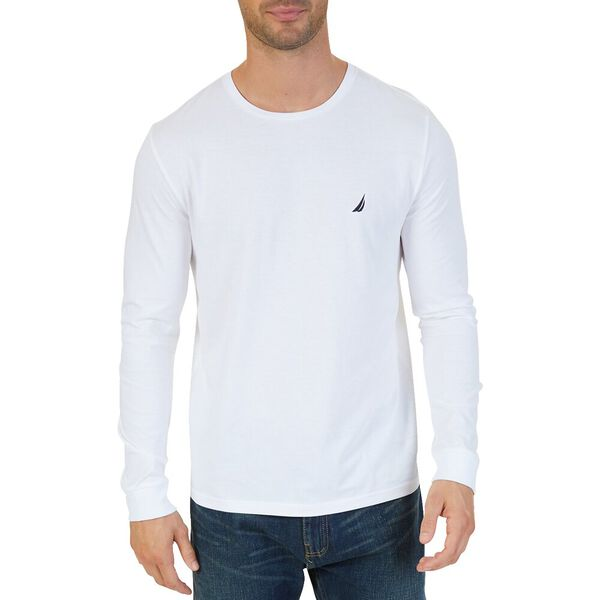 The Staple Long Sleeve Tee, Bright White, hi-res