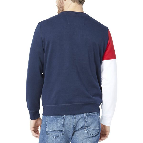 Blocked Logo Crew Sweater, Navy, hi-res
