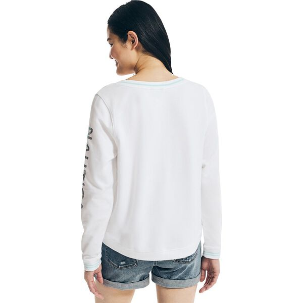 Sustainably Crafted Swing Hem Jumper, Bright White, hi-res