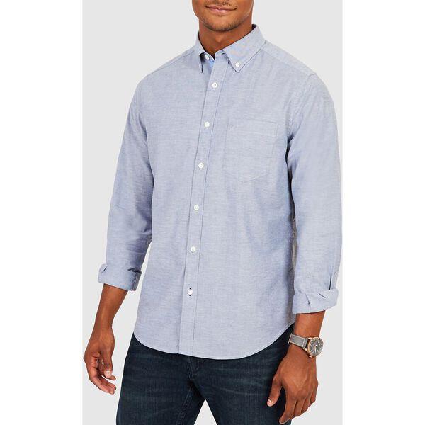 Wrinkle Resistant Navtech Stretch Oxford Shirt, Light French Blue, hi-res