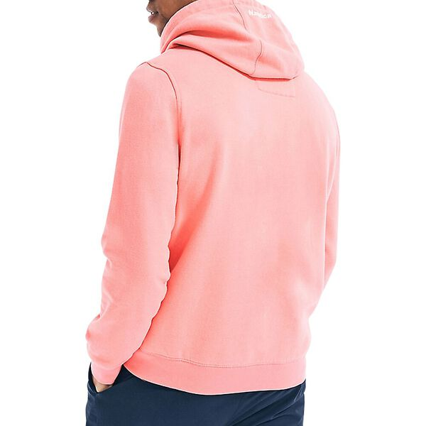 Classic Fit Tipped Branded Hoodie, Tea Berry, hi-res