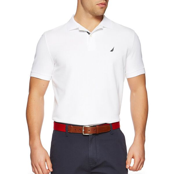 Short Sleeve Performance Deck Polo Shirt, Bright White, hi-res