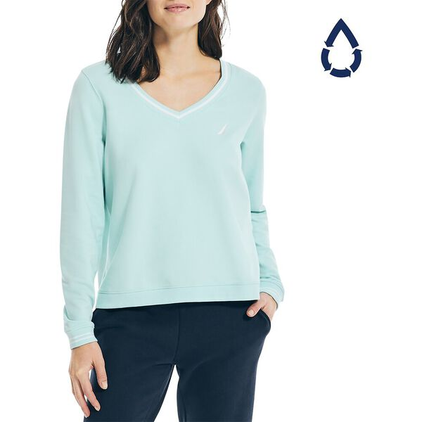 Sustainably Crafted Swing Hem Jumper, Seawater, hi-res