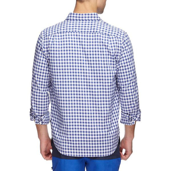 NAVTECH COOLEST COMFORT CHECKED SHIRT, OCEAN LAPIS, hi-res