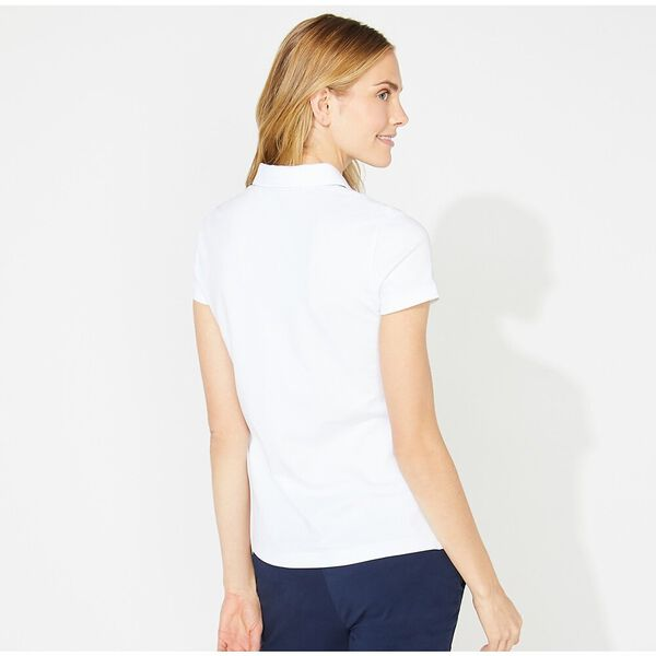 Classic Fit Chambray Collar Polo, Bright White, hi-res