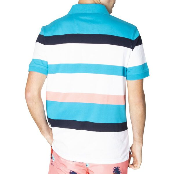 Engineered Stripe Polo, Spinner Blue, hi-res