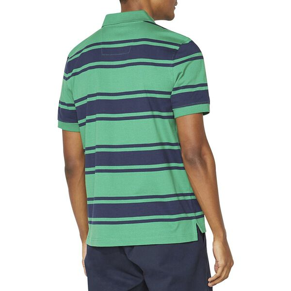 Classic Fit Striped Polo, Cosmic Fern, hi-res