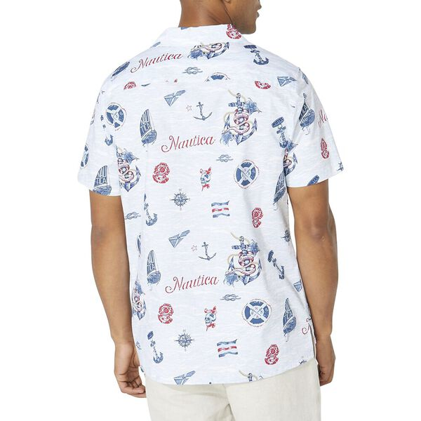 Classic Fit Nautica Jeans Co. Print Shirt, Bright White, hi-res