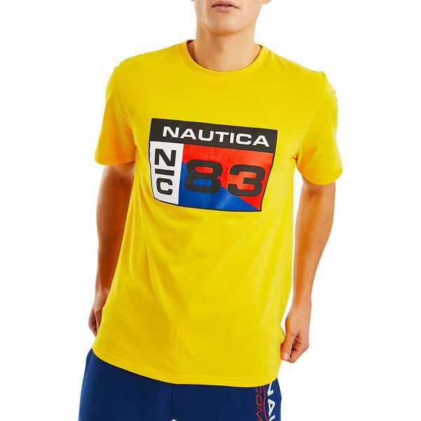 Nautica Competition Lagan Tee, Blazing Yellow, hi-res
