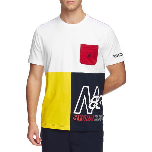 BLUE SAIL HYDRO RACE PIECED POCKET TEE, Bright White, hi-res