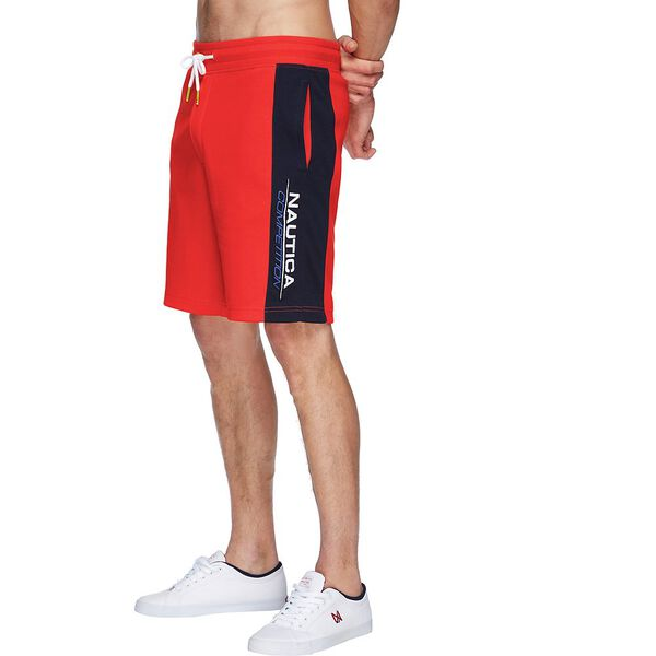 NAUTICA COMPETITION TRACK SHORT, FIERY RED, hi-res