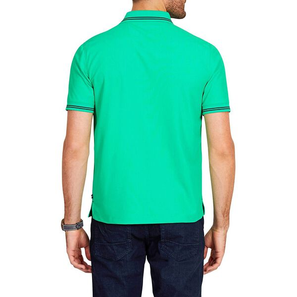 STRIPE EDGE SHORT SLEEVE POLO SHIRT, BRIGHT GREEN, hi-res