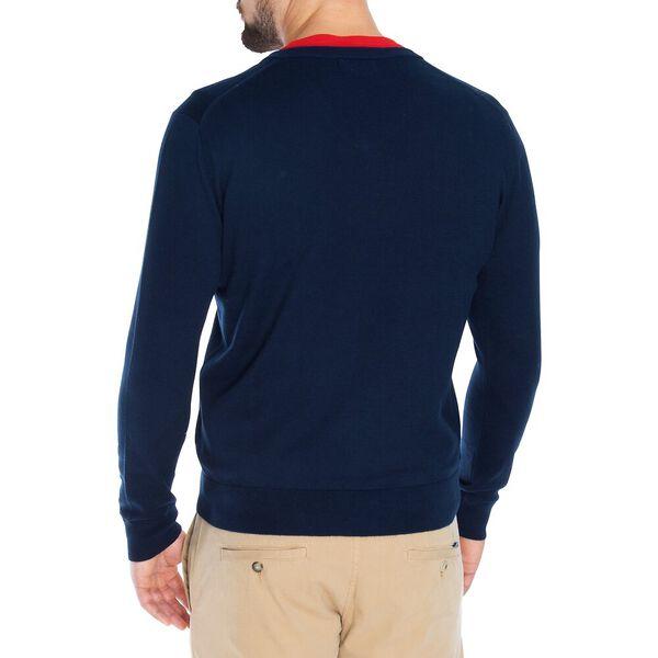 Navtech V-Neck Sweater, Navy, hi-res