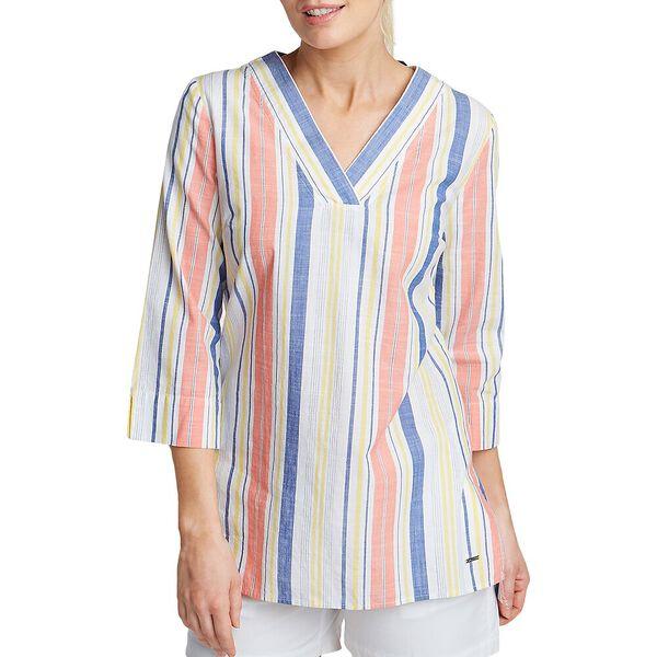 Multi Stripe Summer Tunic, Bright White, hi-res