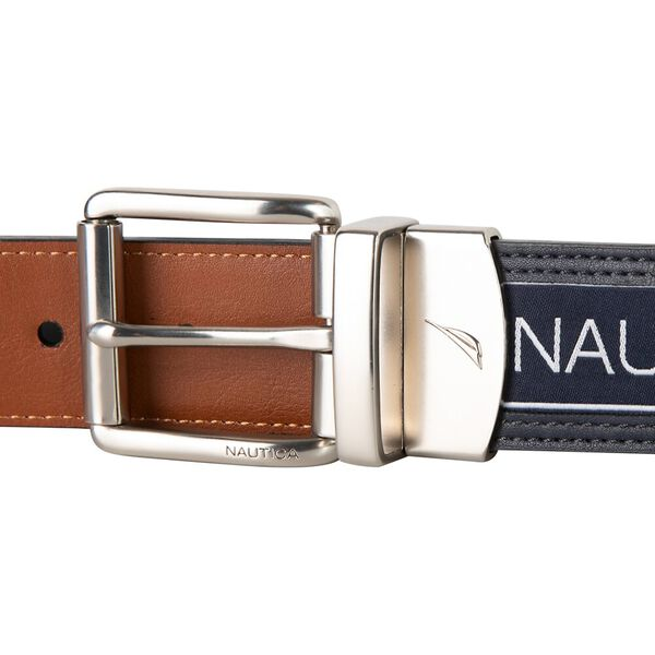 Reversible Belt In Nautical Flag, Navy, hi-res