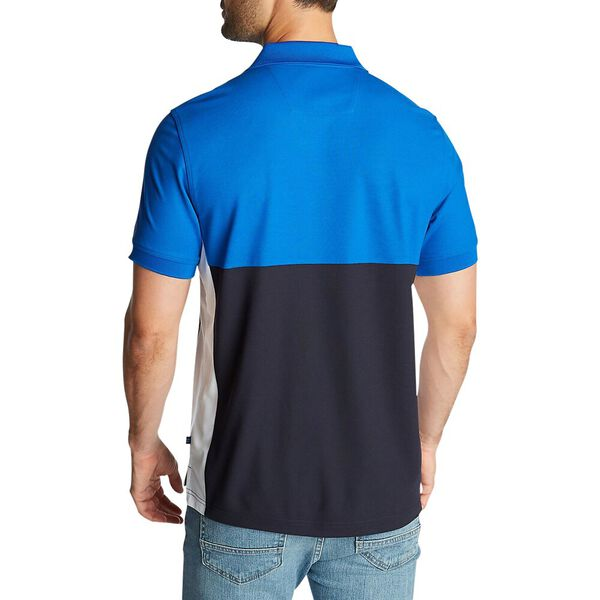 Side Panel Polo Shirt With Logo, Bright Nautica Blue, hi-res