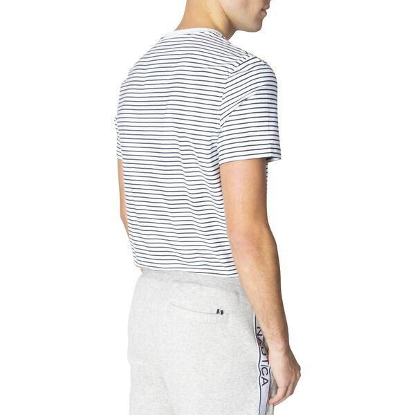 Essential Stripe Tee, Bright White, hi-res