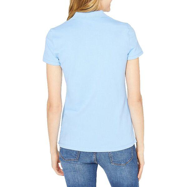 Open Collar Short Sleeve Polo Shirt, Della Robbia Blue, hi-res