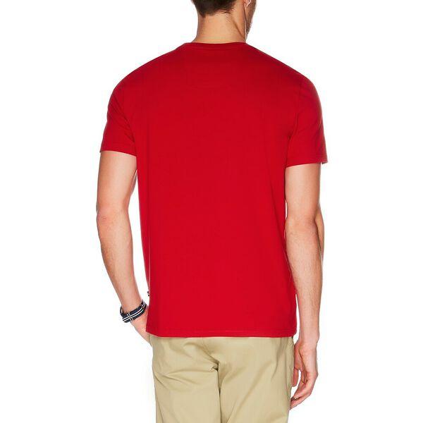 LOGO POCKET T-SHIRT, NAUTICA RED, hi-res