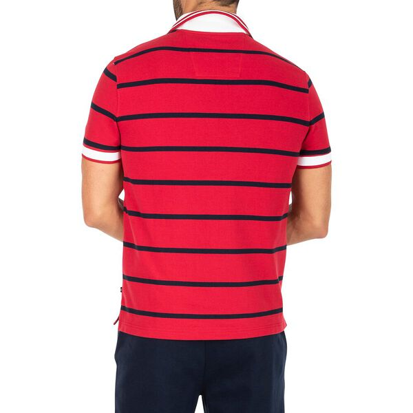 Slim Fit Harvard Stripe Polo, Nautica Red, hi-res