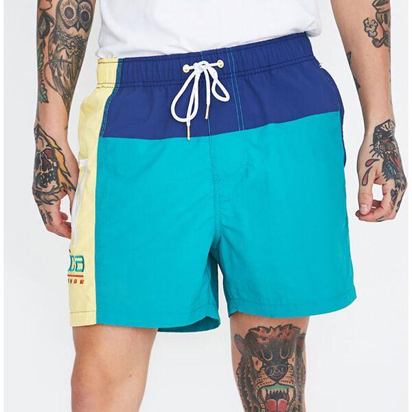 Colourblock Swim Short Teal Blue