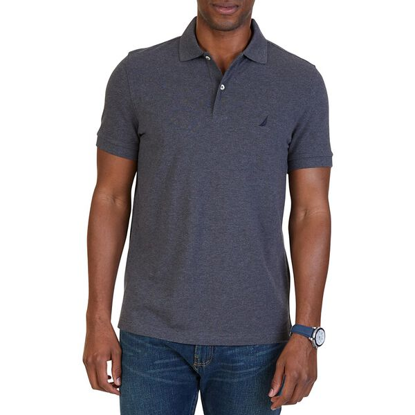 CLASSIC FIT PERFORMANCE POLO  SHIRT, Charcoal Heather, hi-res
