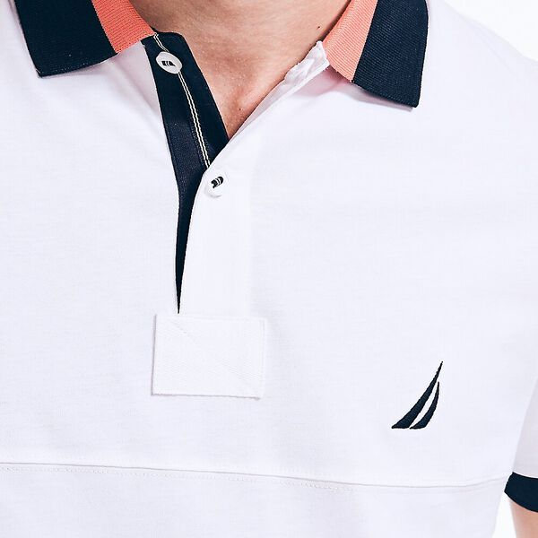Slim Fit Jersey Polo, White, hi-res