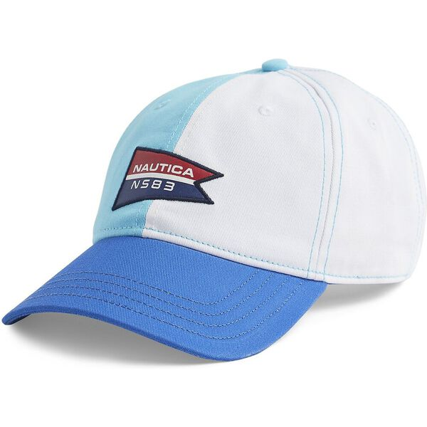 Blue Sail Colourblock Baseball Cap, Bachelor Button, hi-res