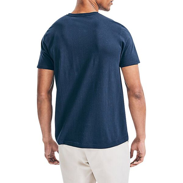 Sustainably Crafted Flag Emblem Tee, Navy, hi-res
