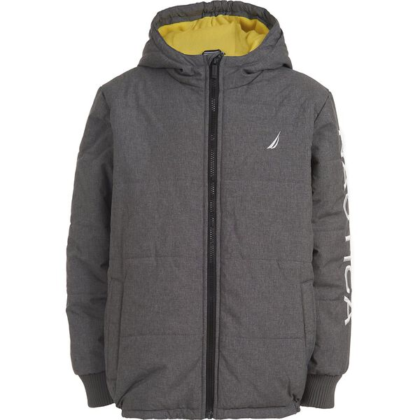 BOYS' QUILTED HOODIE