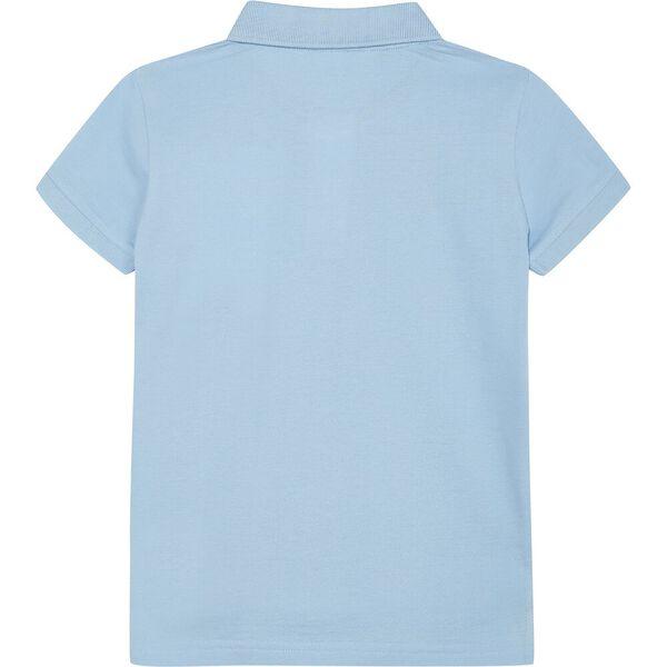Boys 3 -7 Mini Anchor Short Sleeve Polo, Light Blue, hi-res