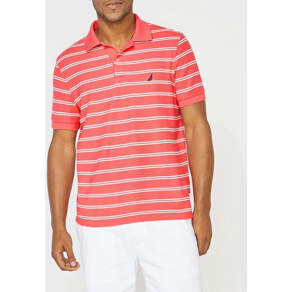 Performance Classic Fit Stripe Deck Polo, Paradise Pink, hi-res