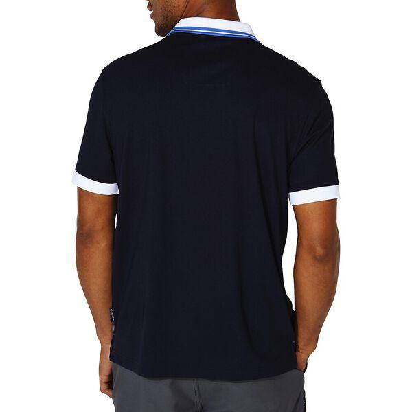 Classic Fit Diagonal Block Polo, Navy, hi-res