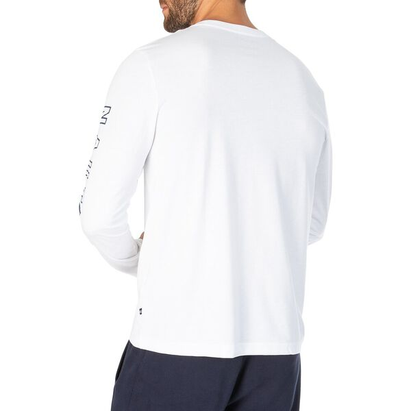 Sustainably Crafted Coastal Division Long Sleeve Tee, Bright White, hi-res