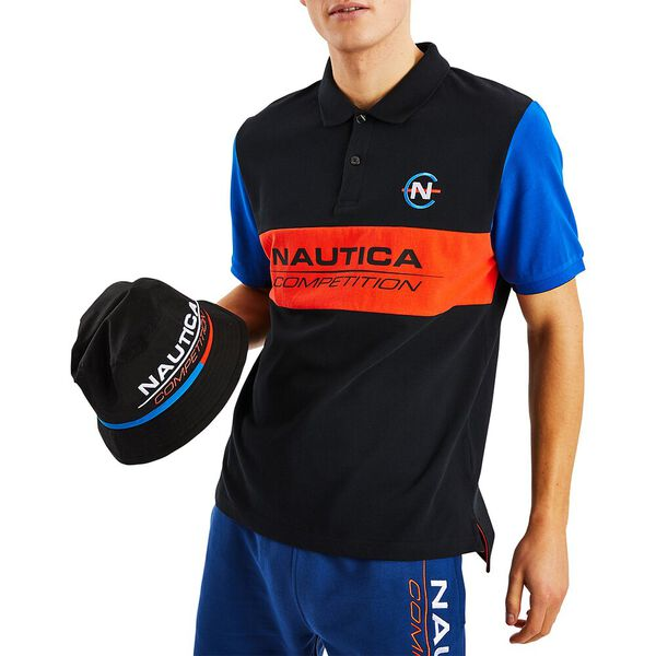 Nautica Competition Laker Polo, True Black, hi-res