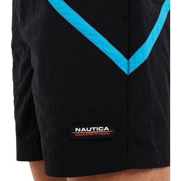 Nautica Competition Fiddley Swim Shorts, Black, hi-res