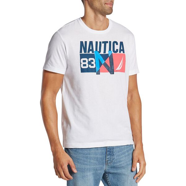 N-83 SHORT SLEEVE TEE, BRIGHT WHITE, hi-res